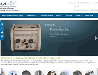 power.apitech.com screenshot