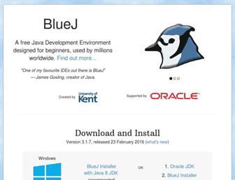 Main page screenshot of bluej.org