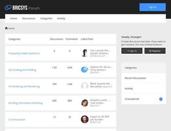 forum.bricsys.com screenshot