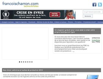francoischarron.com screenshot