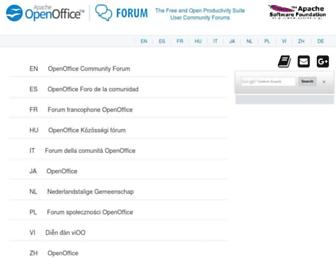 forum.openoffice.org screenshot