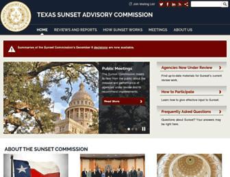 sunset.texas.gov screenshot