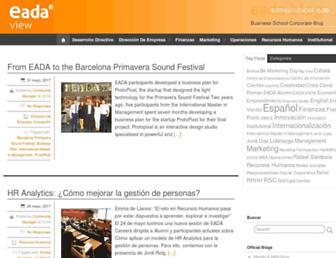 Main page screenshot of alumni.blogs.eada.edu