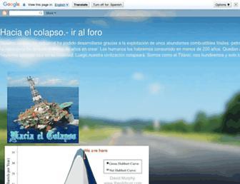 haciaelcolapso.blogspot.com screenshot