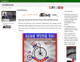 Main page screenshot of cyclelicio.us