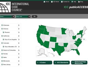 codes.iccsafe.org screenshot