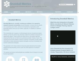 snowballmetrics.com screenshot