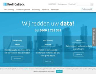 ontrackdatarecovery.nl screenshot