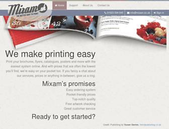 mixam.co.uk screenshot
