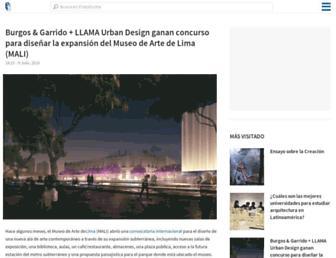 Main page screenshot of plataformaarquitectura.cl