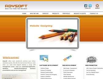adysoftindia.com screenshot