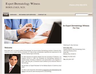 dermatologyexpertwitness.com screenshot