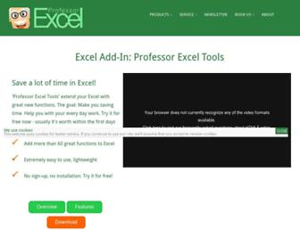 professor-excel.com screenshot