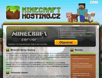 minecraft-hosting.cz screenshot