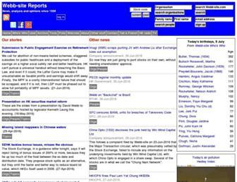 Screenshot for webb-site.com