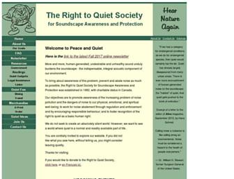Main page screenshot of quiet.org