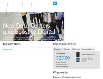 millicom.com screenshot