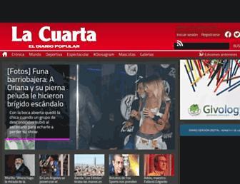 Main page screenshot of lacuarta.cl