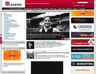 Main page screenshot of events.nl