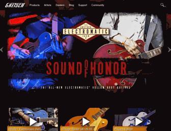 gretschguitars.com screenshot