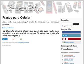 Thumbshot of Frasesparacelular.com.br