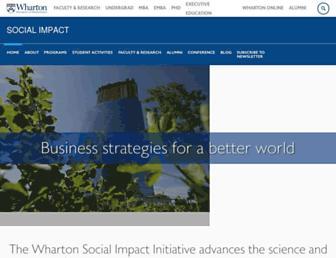 socialimpact.wharton.upenn.edu screenshot