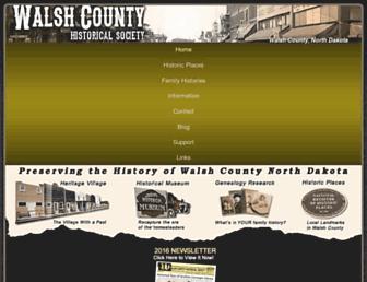walshhistory.org screenshot