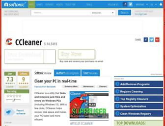 ccleaner.en.softonic.com screenshot