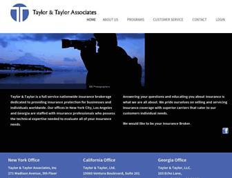 taylorinsurance.com screenshot
