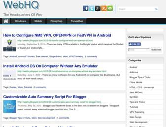 webhq.blogspot.com screenshot