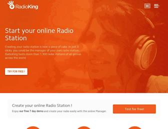 fr.radioking.com screenshot