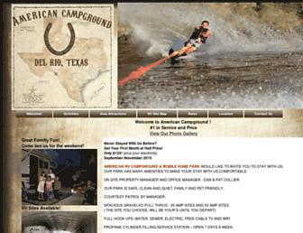 Main page screenshot of americancampground.net