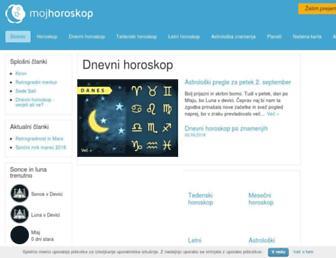 mojhoroskop.si screenshot