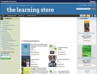 learningstore.uwex.edu screenshot