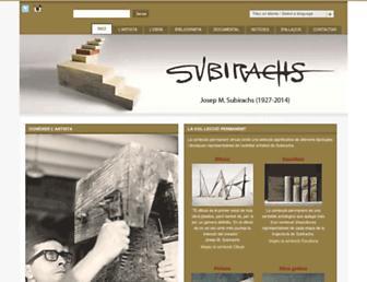 Main page screenshot of subirachs.cat