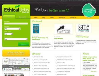ethicaljobs.com.au screenshot