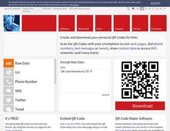 qrcode.tec-it.com screenshot