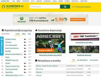 Main page screenshot of slunecnice.cz
