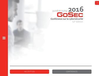 Main page screenshot of gosec.net