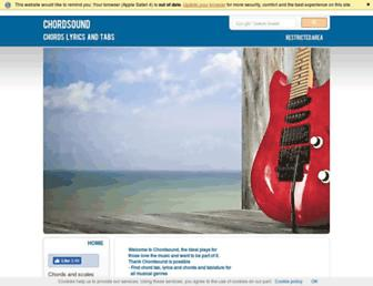 chordsound.com screenshot