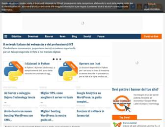 Main page screenshot of mrwebmaster.it