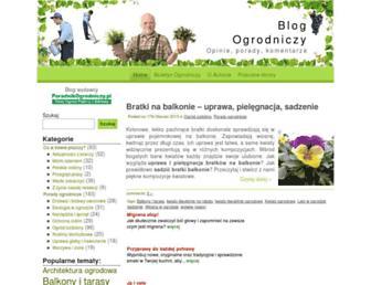Main page screenshot of blog-ogrodniczy.pl