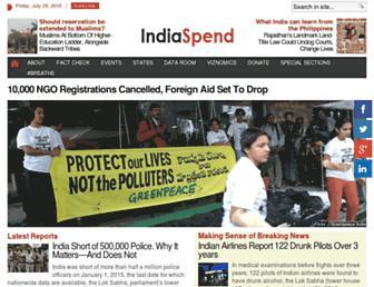 indiaspend.com screenshot