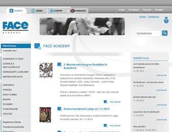Main page screenshot of faceczech.cz