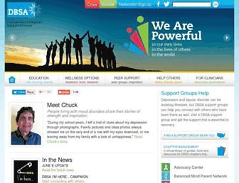 Main page screenshot of dbsalliance.org