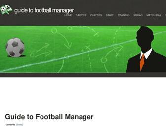guidetofootballmanager.com screenshot