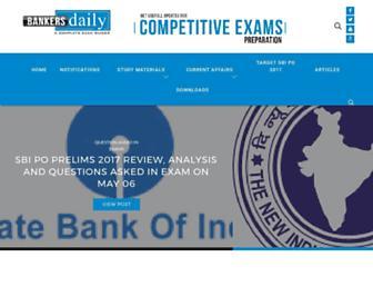 bankersdaily.in screenshot