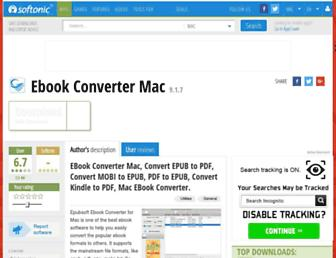 ebook-converter-mac.en.softonic.com screenshot