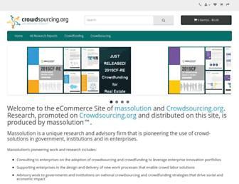 Main page screenshot of crowdsourcing.org