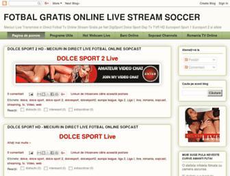 fotbalgratisonline.blogspot.com screenshot